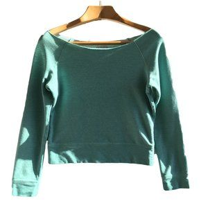 Urban Outfitters Turquoise Crop Sweatshirt Sweater